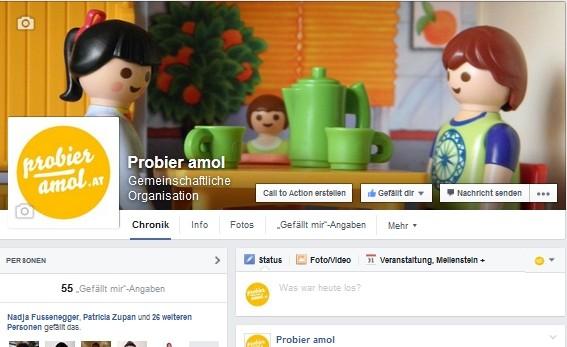 Probier amol auf Facebook