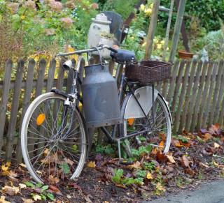 Fahrrad am Zaun